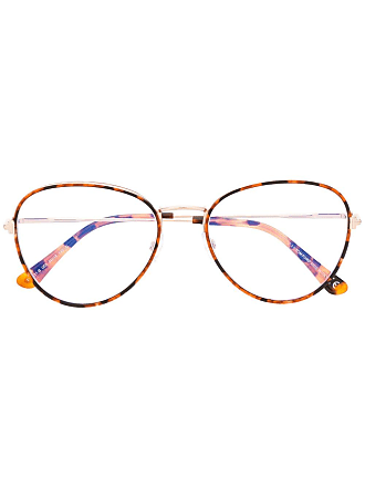 Tom Ford Eyewear tortoiseshell thin round frame glasses - Brown