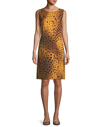 053f3899 Lafayette 148 New York Bibiana Sleeveless Reversible Stripe & Leopard-Print  A-Line Dress