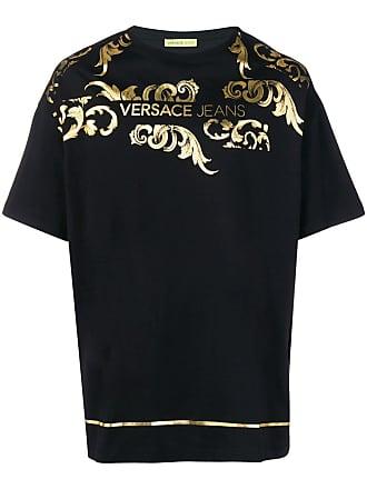 Versace Jeans Couture Camiseta com efeito metálico - Preto