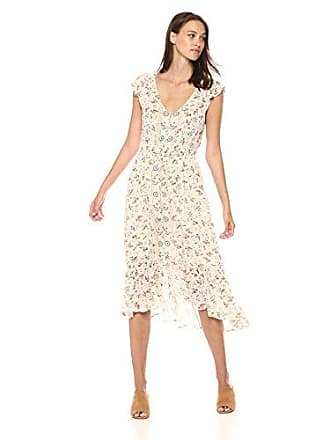 Lucky Brand Womens Felice Floral Dress in Natural Multi, S