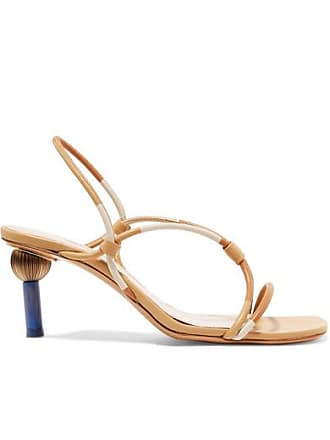 Jacquemus Olbia Leather Slingback Sandals - Beige