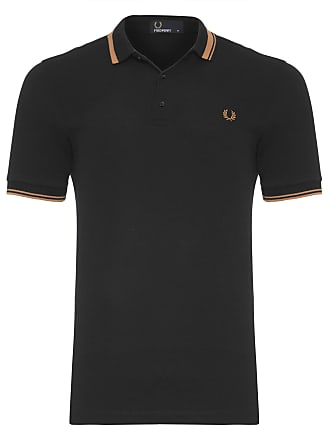 Fred Perry POLO MASCULINA TIPPED PIQUET - PRETO