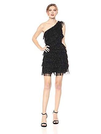 de259837961c Bcbgmaxazria BCBGMax Azria Womens One Shoulder Metallic Lace Dress, Black 4