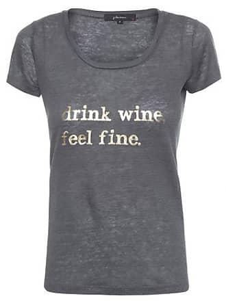 J. Chermann T-shirt Drink Wine J. Chermann - Azul