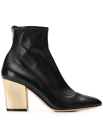 db710740dedb Sergio Rossi metallic heel ankle boots - Black