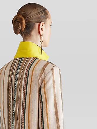 Etro Striped Coat, Woman, Beige, Size 38