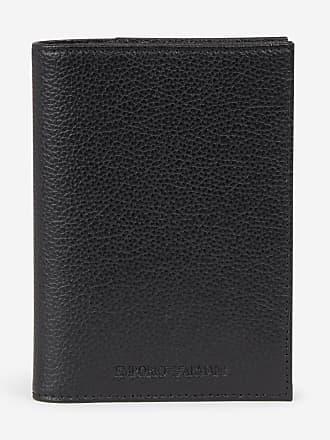 db8aa4a22d0b Emporio Armani Porte-passeport cuir Noir Emporio Armani