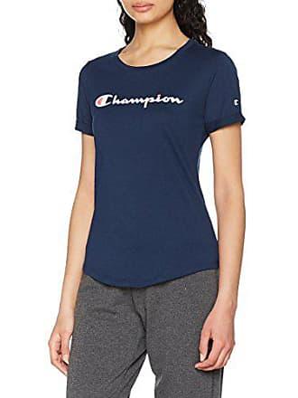 a254228d35c1f Champion Crewneck American Classics, T-Shirt Femme, Bleu, X-Large (