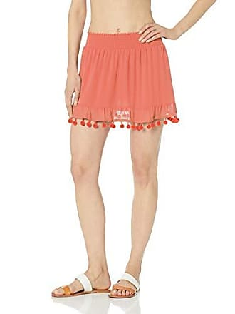 Ramy Brook Womens Stevie Skirt, Bright Coral, Medium