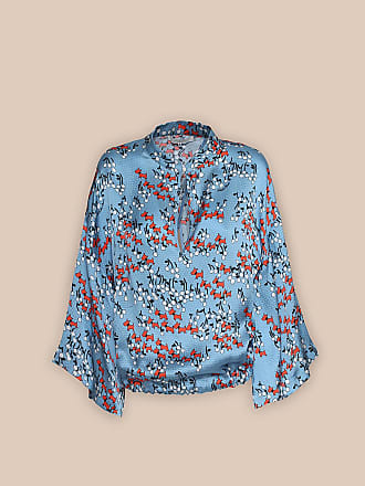 L'autre Chose SHIRT WITH CROSSOVER DETAIL IN A CHERRY-&-DOG PRINT