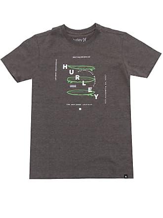 Hurley Camiseta Hurley Menino Escrita Cinza
