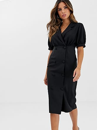fee6303c3c7c5 Black Midi Dresses: Shop up to −80% | Stylight