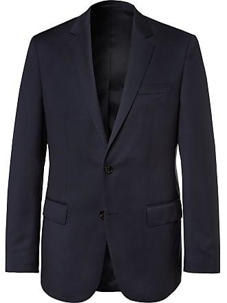 HUGO BOSS Blue Hayes Slim-fit Super 120s Virgin Wool Suit Jacket - Navy