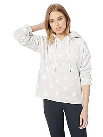 PJ Salvage Womens Cozy Lounge Sweater, Heather Grey Stars, X-Large