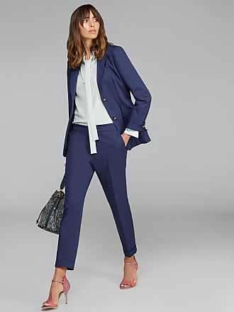 Etro Tailored Jacket With Pegaso Buttons, Woman, Navy Blue, Size 40