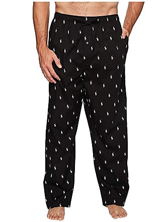 286adfe4a Polo Ralph Lauren Tall All Over Pony Player Woven Pants (Black White Polo  Player