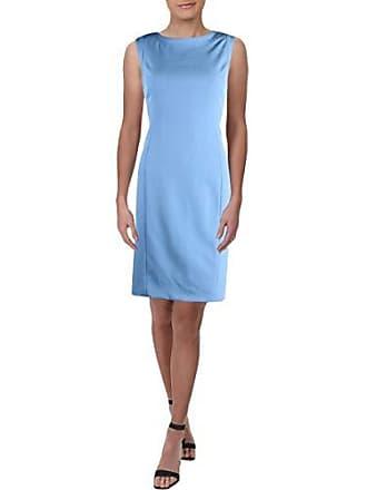 2b0ef325 Kasper Womens Petite Sleeveless Jewel Neck Stretch Crepe Dress, Blue  Horizon, 8P