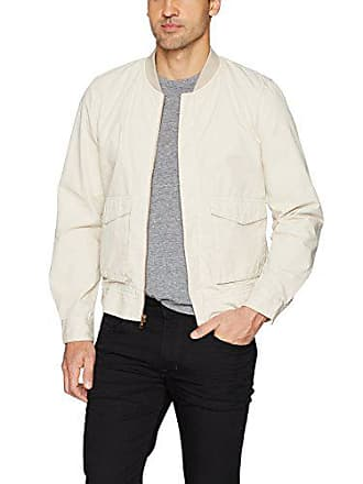 Joe's Mens Military Bomber Jacket, Ecru, M