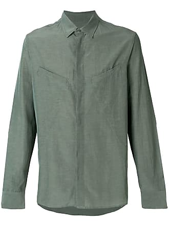 Qasimi concealed button shirt - Green