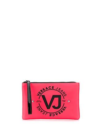 Versace Jeans Couture Necessaire com tachas e logo - Rosa