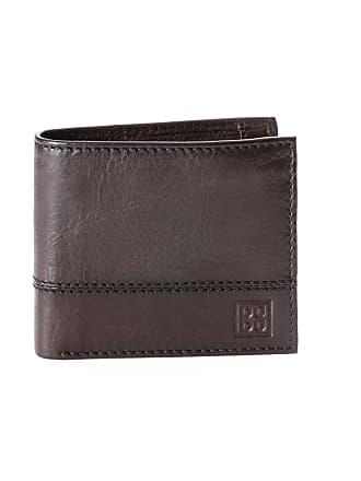 54717d0ee7 DuDu Portafoglio uomo piccolo in vera pelle con portamonete e tasca interna  con zip DUDU Marrone