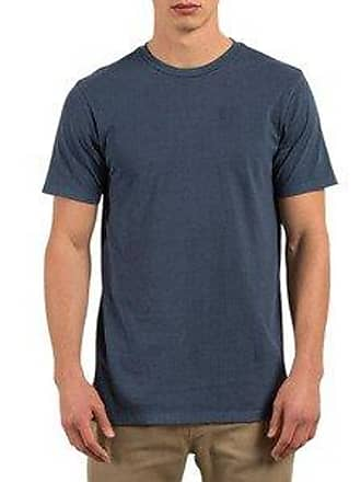 Volcom Mens Pale Wash Solid Short Sleeve T-Shirt, Blue, S