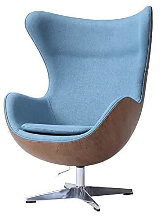 New Pacific Direct 6300041-274 Axis Fabric Swivel Rocker Accent Chairs, One Size, Blue