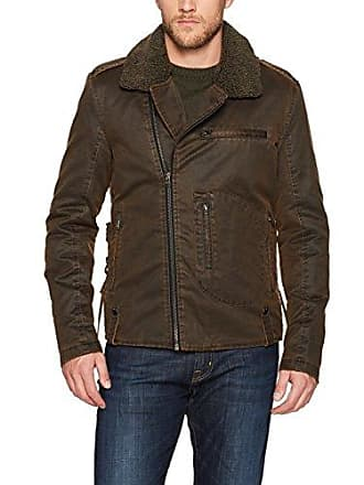 William Rast Mens Westwood Moto Jacket, Dark Brown, Medium