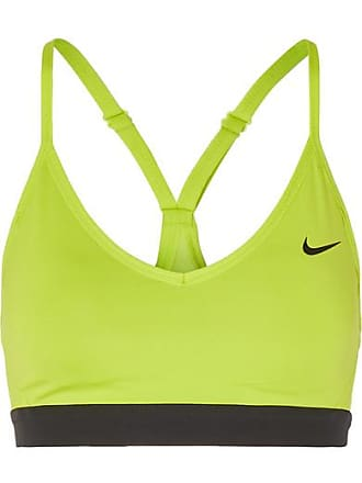 1f31baaa18306 Nike Indy Mesh-trimmed Neon Stretch Sports Bra - Yellow