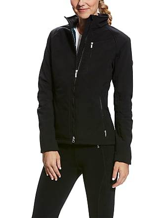 4d82c0db466 Ariat Womens Cyclone Softshell Jacket Long Sleeve Fleece in Black