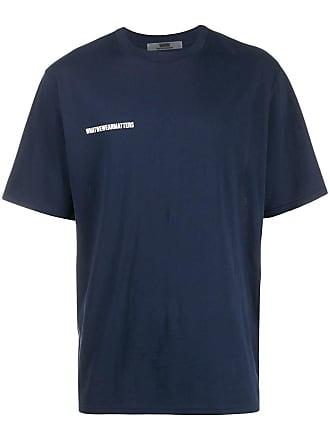 WWWM - What We Wear Matters Camiseta com patch de logo - Azul