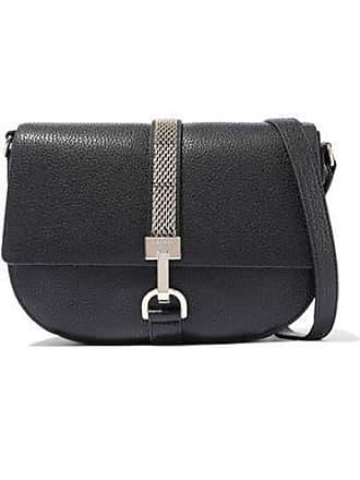 adc06a5129d Lanvin Lanvin Woman Lien Chain-trimmed Textured-leather Shoulder Bag Black  Size