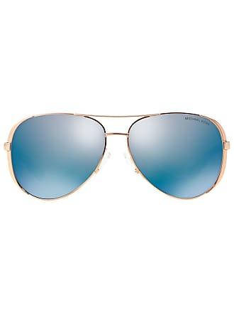 Michael Michael Kors Óculos de sol aviador espelhado MK5004 - Metálico