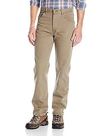 Wrangler Mens Rugged Wear Classic Fit Jean, Olive, 28x32