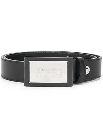 Versace Jeans Couture logo plaque belt - Preto