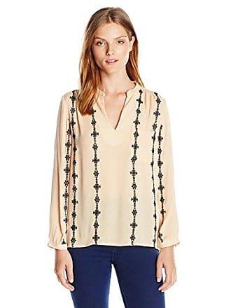 1e6f16f02c9963 Vero Moda Womens Samantha 7 8 Sleeve Shirt with Embroidered Detail
