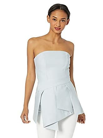 93fe399457443f C/Meo Collective Womens Slow Motion Strapless Peplum Bustier Top, Pale  Blue, xs