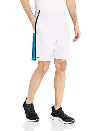 Lacoste Mens Sport Color Block Drawstring Short, White/PRATENSIS/Navy Blue, XX-Large