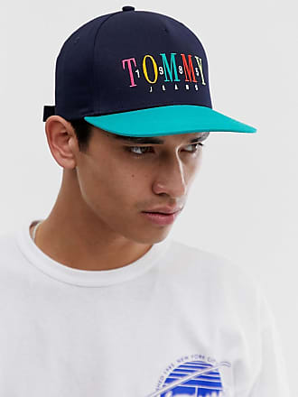 69425ae1 Tommy Jeans baseball cap with embroidered 1985 logo in navy