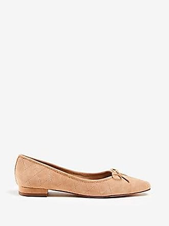 ANN TAYLOR Wilma Quilted Suede Ballet Flats