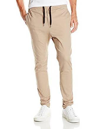 Zanerobe Mens Sureshot Stretchy Jogger Chino Pants, Tan, 29 Inches