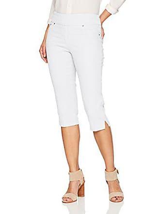 Ruby Rd. Womens Petite Pull-on Extra Stretch Denim Cropped Capri, White, 10P