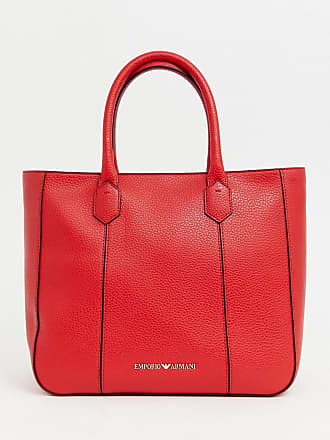 Emporio Armani Structured Zip Leather Shopper Bag 79a8687518f