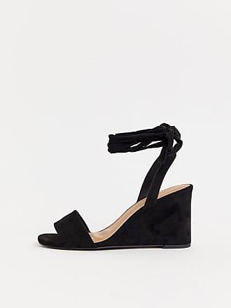 62fcef9acbdde6 Asos Hammock - Chaussures compensées minimalistes avec liens sur les jambes  - Noir - Noir