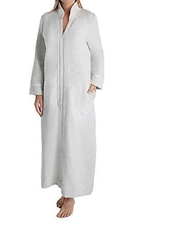 d3c77acfa004 Carole Hochman Womens Diamond Quilt Heather Long Zip Robe, Grey, S