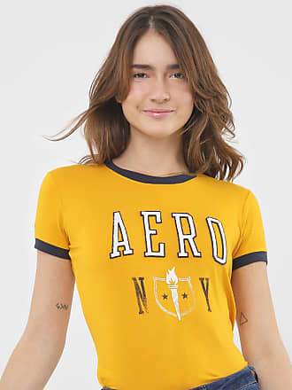 Aéropostale Blusa Aeropostale Logo Amarela