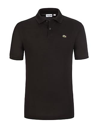 Lacoste Übergröße   Lacoste, Pique-Poloshirt aus 100% Baumwolle in Schwarz  für Herren 452a5b5713