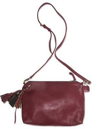 Novica Leather sling, Supple Maroon