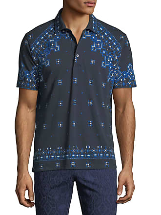Etro Mens Bandana Pattern Polo Shirt