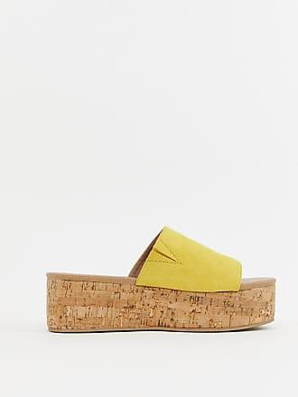 Asos Tillie flatform mules - Yellow